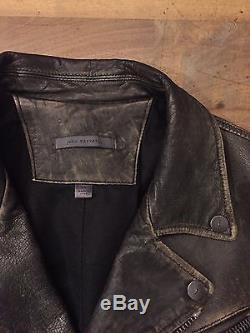 100% Auth John Varvatos Leather Collection Biker Jacket 44 EU, 34 US