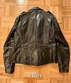 100% authentic Vanson black leather jacket, size M, mint condition