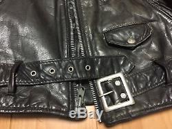 118 38 perfecto schott cowhide leather double motorcycle jacket racer 618