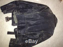 1950s 60 Leather Buco Motorcycle Jacket with Rare Captains Bars