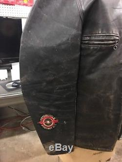 1950s Or 1960s VINTAGE LEATHER MOTORCYCLE CLUB JACKET With INDIAN MC L. I. PATCH HD