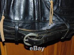 1950s Vintage Original HERCULES Leather Jacket AZTEC M/C CLUB National City CA