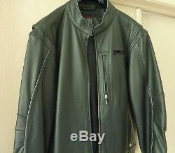 $1,295 SPYDER Black Leather Jacket Motorcycle Riding Bomber Mens SZ 52 L XL