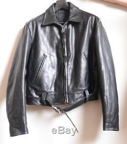 2002 Yohji Yamamoto Pour Homme Motorcycle Black Leather Jacket