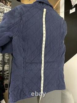 $298 Polo Ralph Lauren Medium Navy Quilted Shawl Jacket Blazer Utility RRL Coat