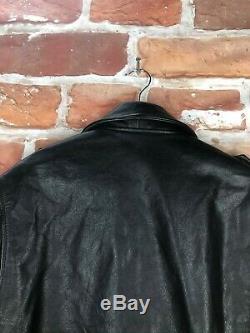 $2k+ Polo Ralph Lauren L Leather Belted Motorcycle RRL Cafe Racer Biker Jacket