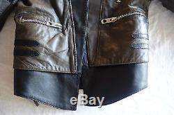 $3.5k Balenciaga Green Khaki & Black Quilted Motorcycle Jacket (o M G!) 42