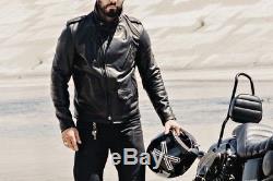 3sixteen x Schott Black Perfecto 519 Leather Jacket Med M
