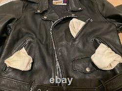 40 perfecto schott 618 or 118 double leather motorcycle jacket 641