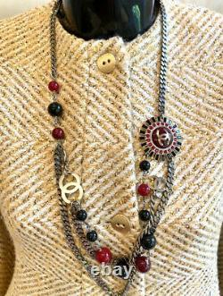 $4200 Mint Chanel Vintage OOT Gold Tweed Boucle Jacket 34 36 38 2 4 6 Coat Top M