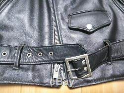518 38 schott leather double motorcycle jacket racer 641 618 black