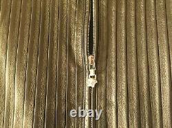 5.5k$ Rare Gianni Versace Man Summer 2002 Pleated Leather Biker Jacket M