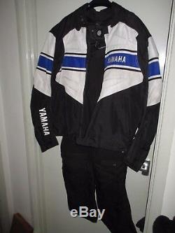 5 pc Yamaha Touring Black Textile Motorcycle Motor Bike Outfit & Glove Preowned