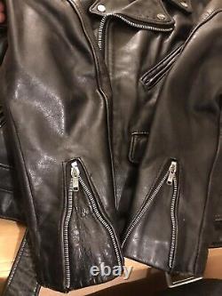618 38 perfecto schott steerhide double leather motorcycle jacket 641 118