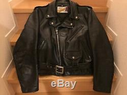 618 40 perfecto schott steerhide leather double motorcycle jacket racer 641