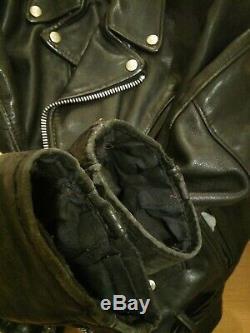 618 perfecto 38 schott steerhide leather double motorcycle jacket racer 641