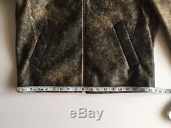 ACNE STUDIOS Mens NIKLAS Brown Leather Jacket Size 48 US Medium $1600