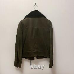 ACNE STUDIOS Rita Leather Jacket Black Moto Jacket Womens Biker Coat 34 XS S 0 2