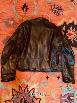 AERO Front Quarter Horsehide Leather Heavy Motorcycle Biker Jacket 44