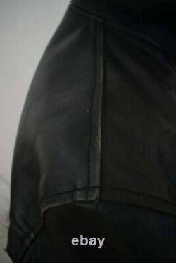 AERO LEATHER Black Front Quarter Horsehide Highwayman Jacket Size 42/52 40/50