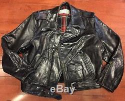 Aero Leather Horsehide Vintage Indian Ranger Motorcycle Jacket 44 No Reserve