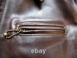 AERO PREMIER HIGHWAYMAN Horsehide Leather Jacket Size 42 Brown Freewheelers
