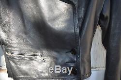 ALAIA vintage Black Butter Leather Perfecto Moto Jacket Sz 36