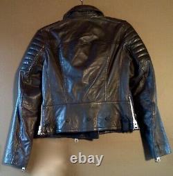 ALL SAINTS Huxley Biker Leather Jacket Size 6
