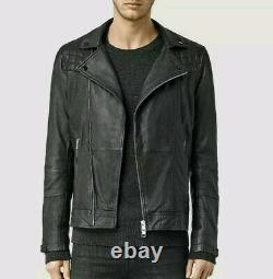 ALL SAINTS Kushiro Leather Jacket Black MEDIUM conroy cargo callerton taro catch