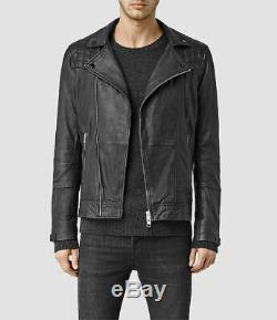 ALL SAINTS Kushiro Leather Jacket Black Size M MEDIUM conroy cargo callerton