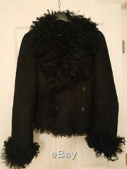 ANN DEMEULEMEESTER shearling jacket