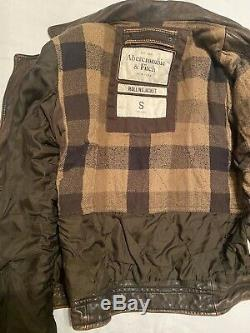 Abercrombie and Fitch Vintage Rollins Leather Jacket
