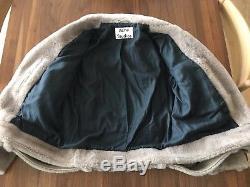 Acne Mock Felted Shearling Jacket EU36