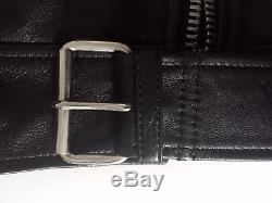 Acne Studios Mock Black Leather Jacket sz FR 36 sz US 4