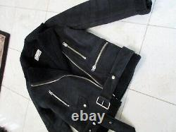 Acne Studios Shearling Moto Jacket, 32