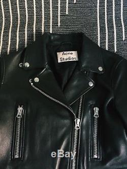Acne Studios Womens Leather Jacket Mock Black (size 38/M)