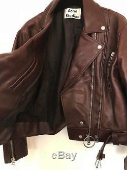 Acne Studios leather jacket, Style Lotta, Brown, European size 36