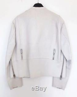 Acne Studios leather jacket, White, Size 36