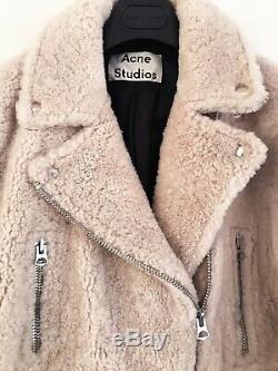 Acne Studios shearling jacket, Merlyn Shear, Size 36, Beige