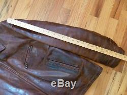 Aero 50s half belt horsehide leather jacket size 44