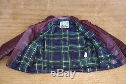 Aero Leather Bootlegger Size 40 Cordovan Horsehide jacket