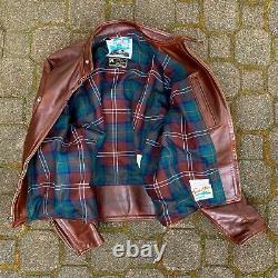 Aero Leather Cafe Racer size 44 Brown CXL Horsehide