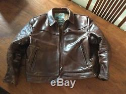 Aero Leather Horsehide Jacket Size 44