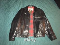 Aero Leather Jacket Highwayman Size 42 Black Vintage Motorcycle Scotland