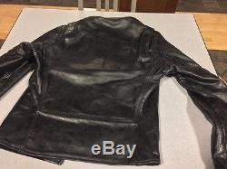 Aero Leather Jacket Steerhide Cafe Racer 38