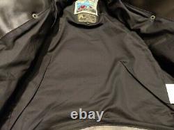 Aero Leather Slim Fit Motorcycle Jacket, Black CXFQHH, 40