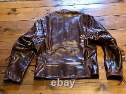 Aero Leathers Cafe Racer Leather Jacket Size 34 Brown CXFQ Horsehide