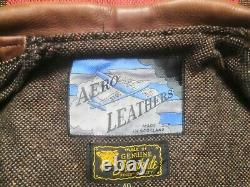 Aero Motorcycle Cafe Racer Leather Jacket Buco