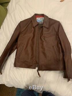 Aero X Iron Heart Horsehide Motocycle Jacket Flat Head Mister Freedom Stevenson