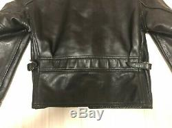 Aero leather 38 stearhide leather single motorcycle jacket caferacer